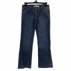 Gap Womens Blue Wide Leg Stretch Denim Jeans Sz 8